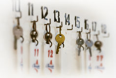 Keys hanging Stock Photos