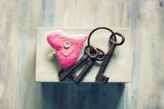Keys & heart Stock Photos