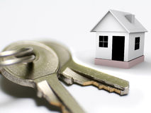 Keys and home Royalty Free Stock Photo