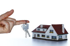 Keys and home Royalty Free Stock Photos