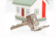 Keys with house. Royalty Free Stock Image