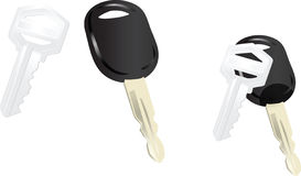 Keys. A house key and a car key Stock Image