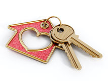 Keys and house pendant Stock Images