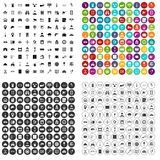 100 keys icons set vector variant. 100 keys icons set vector in 4 variant for any web design isolated on white royalty free illustration