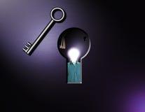 Keys and idea man Stock Photo