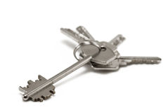 Keys isolated on white Royalty Free Stock Photo