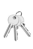 Keys isolated on white Stock Photos