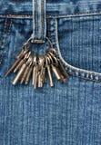 Keys on jeans Stock Photos