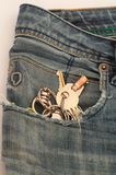Keys in jeans Royalty Free Stock Images