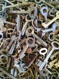 Keys. Jumble of old metal keys Royalty Free Stock Images