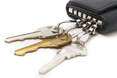 Keys and key chain Royalty Free Stock Images