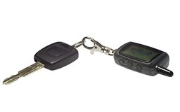 Keys and key chain. Keys and key chain from the car Royalty Free Stock Photography