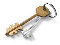 Keys on key ring Royalty Free Stock Image
