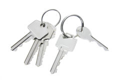 Keys with Key Rings Stock Photo