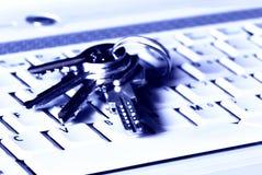 Keys and keyboard Royalty Free Stock Photo