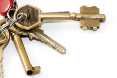 Keys on a keychain Royalty Free Stock Photo