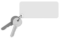 Keys with keychain Royalty Free Stock Photos