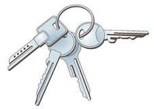 Keys on keychain Royalty Free Stock Photography