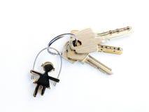 Keys with keychain shaped Stock Photography