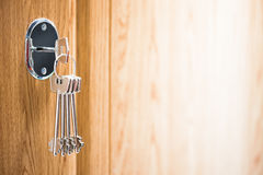 Keys in the keyhole Royalty Free Stock Photography