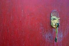 Keys in a keyhole Stock Image