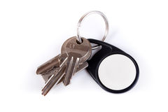 Keys on keyring Stock Photos