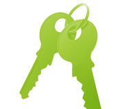 Keys on keyring Royalty Free Stock Photography