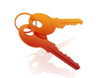Keys on keyring Royalty Free Stock Photo