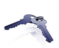 Keys on keyring Stock Image