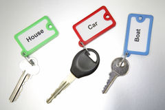 Keys and keytags Royalty Free Stock Photos
