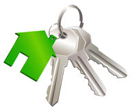 Keys with label of  house Stock Images