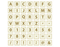Keys  with letters and digits. Set of keys  with letters and digits vector illustration Royalty Free Stock Images