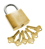Keys and Lock Royalty Free Stock Photography
