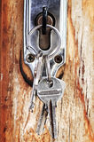 Keys in lock Stock Photography