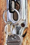 Keys in lock Royalty Free Stock Image