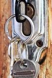 Keys in lock royalty free stock image