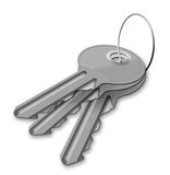 Keys from a lock Royalty Free Stock Photo