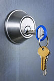 Keys in lock Stock Images