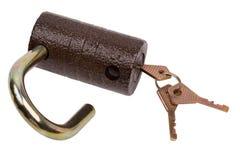 Keys and lock Royalty Free Stock Photos