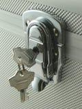 Keys in lock. For box stock photos