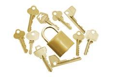 Keys and Lock Royalty Free Stock Image