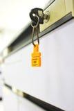 Keys in lock Royalty Free Stock Photography