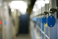 Keys and lockers Royalty Free Stock Photography