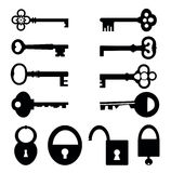 Keys and locks Stock Photos