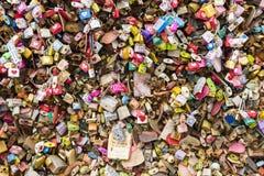 Keys Locks of love Royalty Free Stock Photography