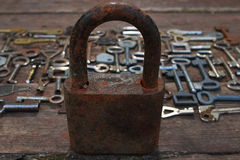 Keys locks Stock Images