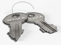 Keys of love. Stock Photo