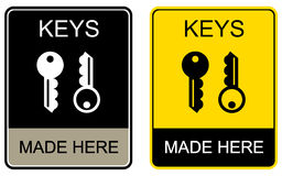 Keys made here - sign Stock Photo