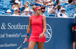 Keys 251. Mason, Ohio – August 17, 2017:  Madison Keys in a round of 16 match at the Western and Southern Open tennis tournament in Mason, Ohio, on August 17 Royalty Free Stock Photo