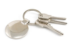 Keys with metal tag Royalty Free Stock Photos